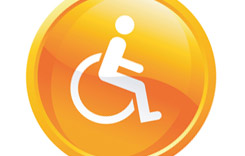 Orange, 3D, Disabaled Symbol