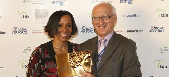 Kelly Holmes and Dennis Richards