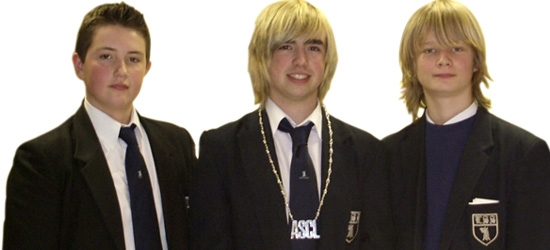 Students, Wesley Woodcock, Patrick Kerr and Jamie Billingham
