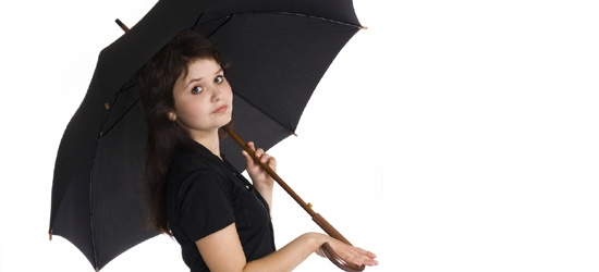 Lady under umbrella