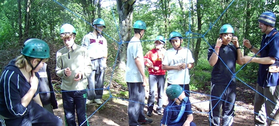 Group at climbing activity